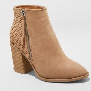 Universal Thread Chrissy Laser Cut Ankle Booties